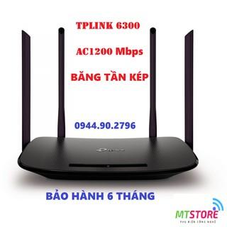 [BH 6 THÁNG] Bộ phát Wifi TPLink WDR6300/5620 chuẩn AC 1200Mbps băng tần kép sóng xuyên tường giá rẻ