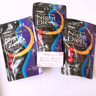 (Có bill Nhật,hàng chuẩn) Trà Giảm Cân Night Diet Tea Orihiro Nhật Bản thumbnail