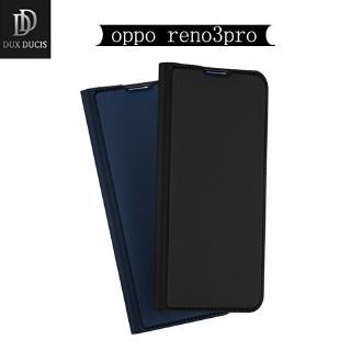 Bao Da Nắp Gập Có Ngăn Đựng Thẻ Màu Trơn Cho Oppo Reno 3 Pro