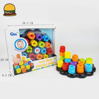 Children Puzzle Educational Toy Tube Shape Nail Board DIY Develop Intelligence Toy