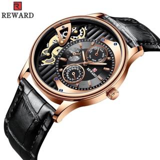 Đồng hồ nam dây da mặt kính chống xước Reward thumbnail