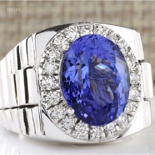Nhẫn kim loại đính đá kim cương thời trang