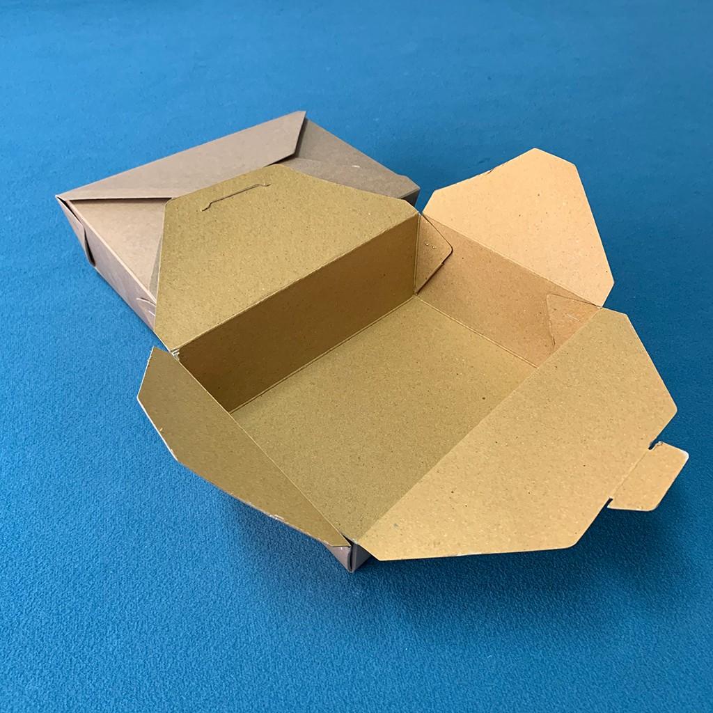 [FreeShip] Combo 100 Hộp Giấy Đựng Thức Ănn Nhanh, Hộp Đựng Thực Phẩm Sạch, Dung Tích 1600ml- Hộp Đừng Đồ ăn Ship Online