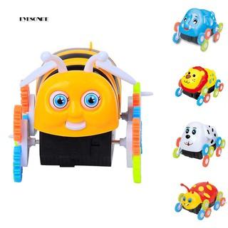 ♕Children Kids Bee Ladybird Elephant Multiple Wheel Electric Dump Truck Car Toy