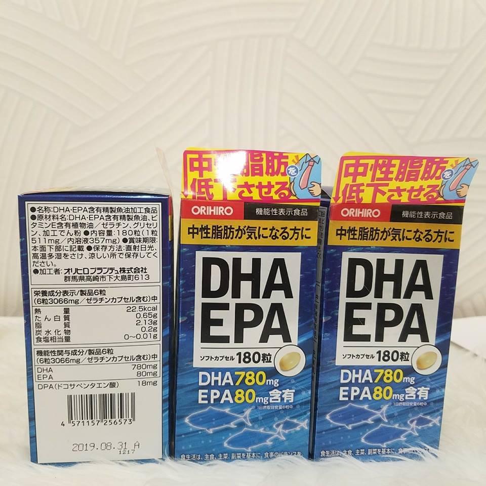 Viên uống bổ não DHA EPA Orihiro hộp 180 viên