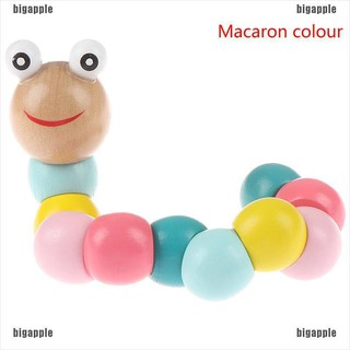 [bigapple]Cute worm puppet caterpillar kids colorful cognition playmate educational toy adore