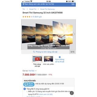 Tivi 32inch Samsung UA32T4500 (giọng nói)