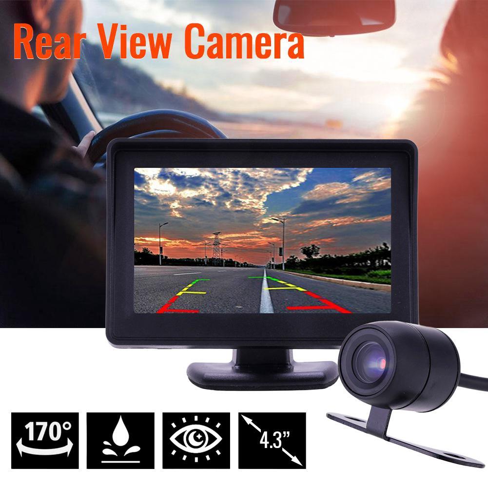 """🚗4.3 """"Bộ phụ kiện camera lùi nhìn đêm phía sau xe ô tô + Màn hình LCD LCD"""