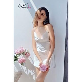 Đầm ngủ phi lụa Wannabe DNS01 cổ đổ thumbnail