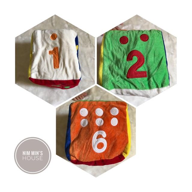 Thanh lý đồ chơi vải (khối xúc sắc 6 mặt) cho bé