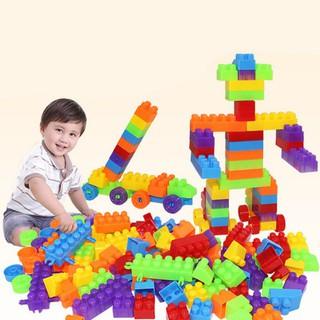 100/260/416 Pcs Block Building Blocks DIY Early Educational Toy
