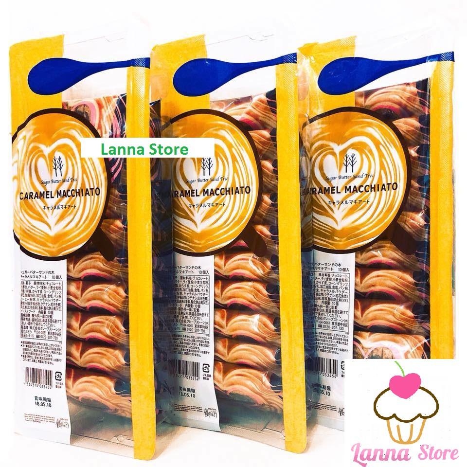 Bánh kẹp kem cà phê macchiato caramel Sugar Butter Sand Tree - Nhật Bản ??