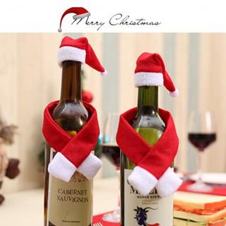 2/10PCS Set christmas santa wine bottle bag cover xmas dinner party table decor