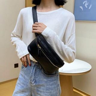 [FREESHIP] - Túi Bao Tử da lộn đeo bụng style ullzang ziu.bags mã 9822 [ ảnh thật ] thumbnail