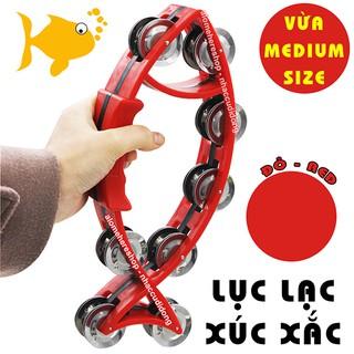 Lục lạc xúc xắc gõ bo nhựa hình con cá medium size (Màu Đỏ)