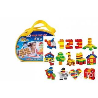 Bộ đồ xếp hình lego 67 khối cho bé trên 3 tuổi