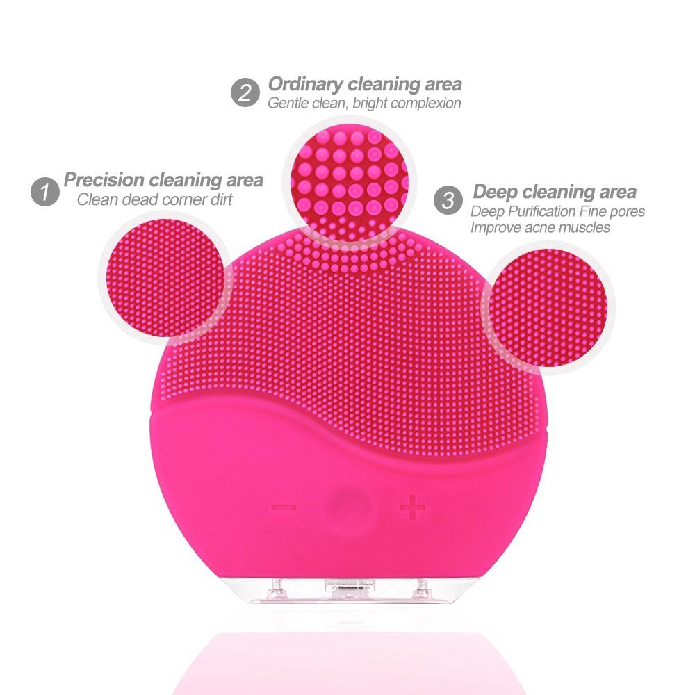 Máy rửa mặt mini sử dụng điện sóng siêu âm chống lão hoá làm sạch sâu