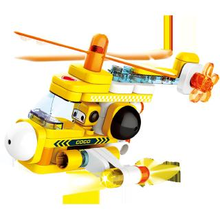 Light Traffic Series Large Particle Blocks Toys Light Submarine Helicoptor Kids Gift Collection from