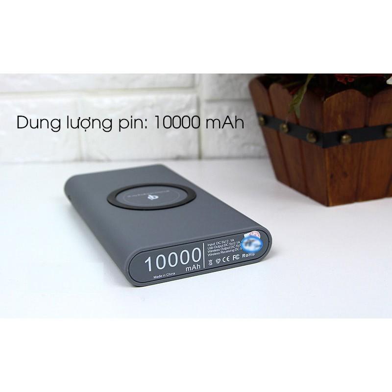SẠC KHÔNG DÂY CHUẨN QI KIÊM PIN DỰ PHÒNG 10.000 MAH