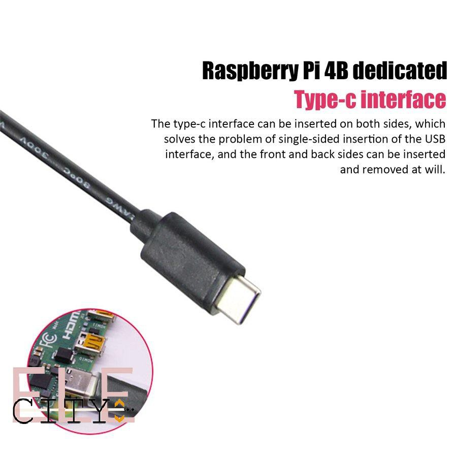 Bộ Nguồn 22ele Cho Raspberry Pi 4 Usb-C 5v 3.0a