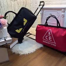 Túi kéo du lịch 3CE phong cách Hàn Quốc (HÀNG CAO CẤP)