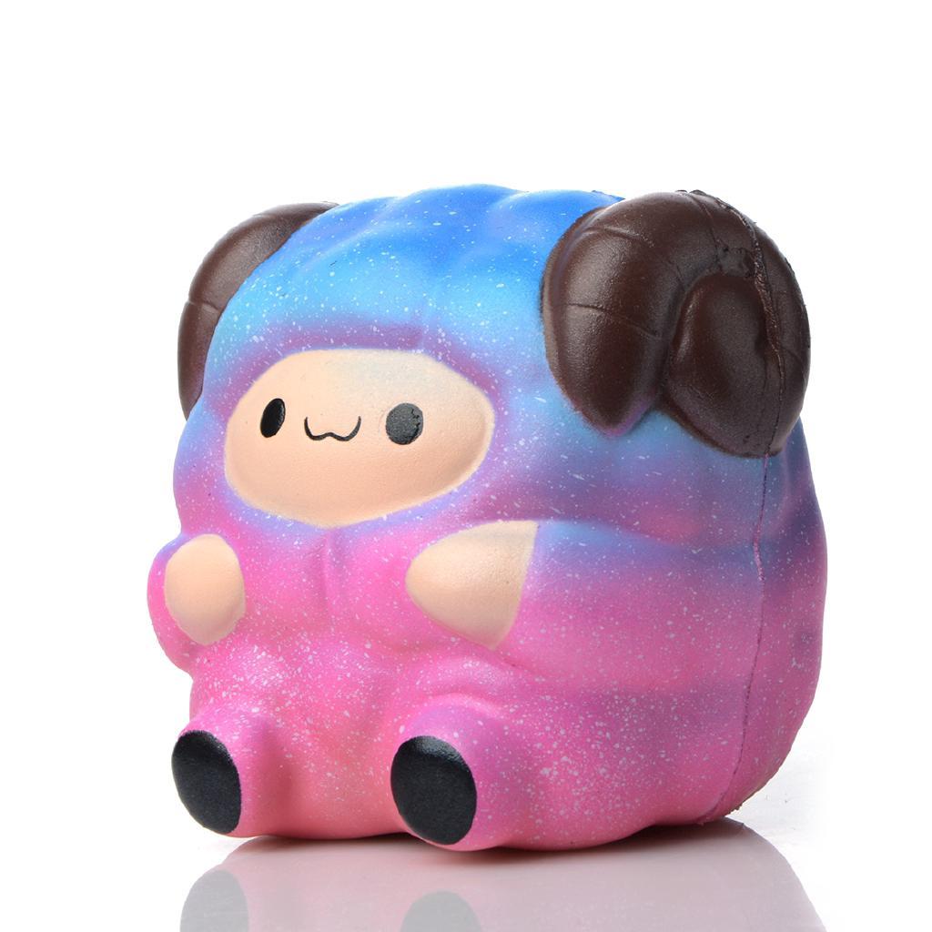 Cute Sheep Jumbo 7cm Colorful Squishy Toys Kids Adult