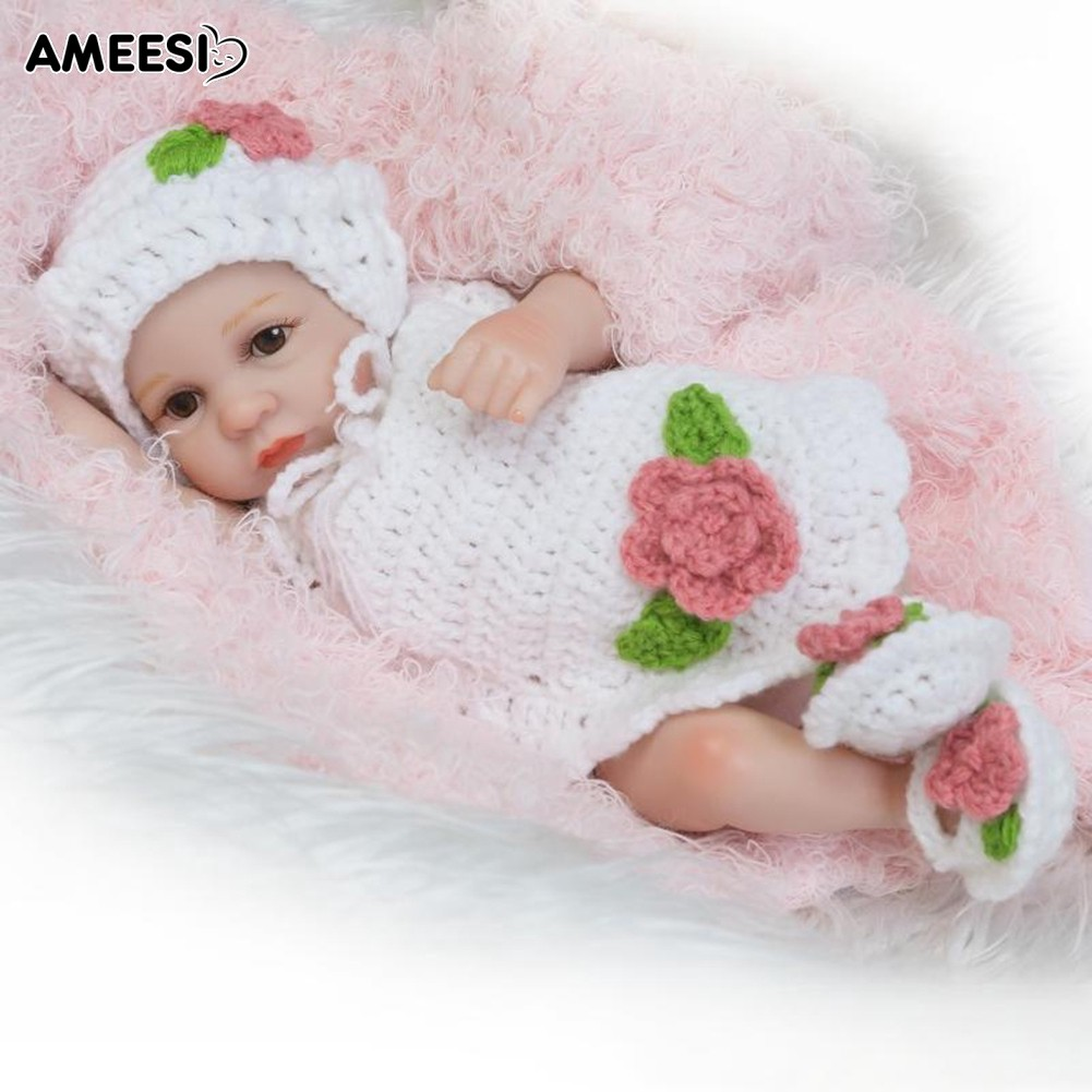 🔅🔆AMEESI  10inch Handmade Realistic Open Eyes Baby Doll Toy Gift