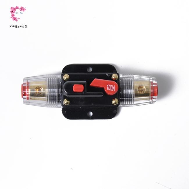 100 Amp In-Line Circuit Breaker Stereo/Audio/Car/RV 100A/100AMP Fuse 12V