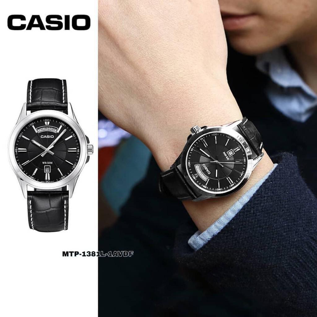 Đồng Hồ Casio Nam Dây Da MTP-1381L-1AVDF Chính Hãng