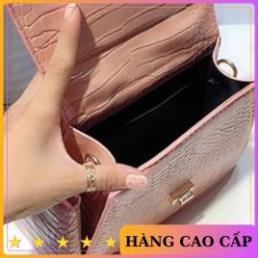 Túi xách nữ thời trang đeo chéo quai nhúm kèm ví mini da cá sấu mẫu mới nhất CKVI03+ ảnh thật