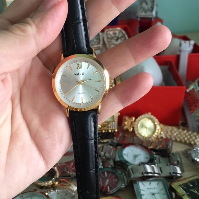 Đồng hồ da nữ Halei chống nước