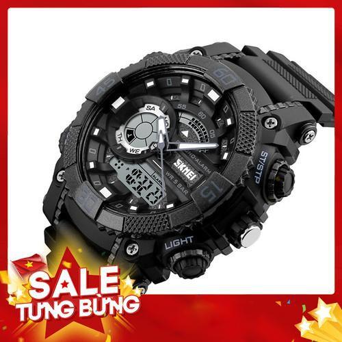 Đồng hồ nam SKMEI điện tử SK017 kim trắng thể thao thời trang - Siêu HOT