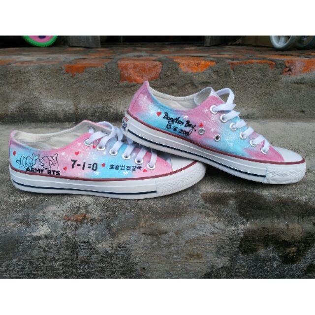 Giày galaxy BTS ( ảnh shop tự chụp và video do khách gửi)