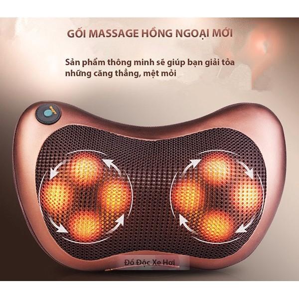 Gối massage hồng ngoại 8 quả cầu FP-8028