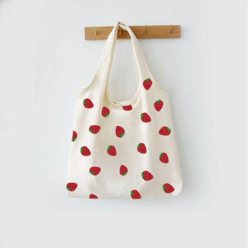 Túi đeo vai đi làm, đi học đẹp giá rẻ (VẢI CANVAS FORM TO - QUAI LIỀN - 2 LỚP - QUAI LIỀN) - DÂU 2