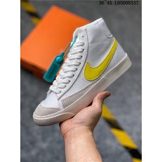 [Spot] Nike Blazer Mid cường77 VNTG Cowboy Casual Sneakers Trắng Giày vàng Skate
