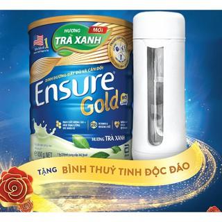 Hình ảnh Sữa bột Ensure Gold Trà xanh 850g tặng Bình thủy tinh-2