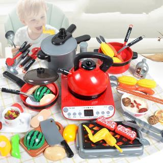Children's home shopping cart cut cut lot lot small kitchen toy baby simulation kitchen cooking girl 3-6 years old
