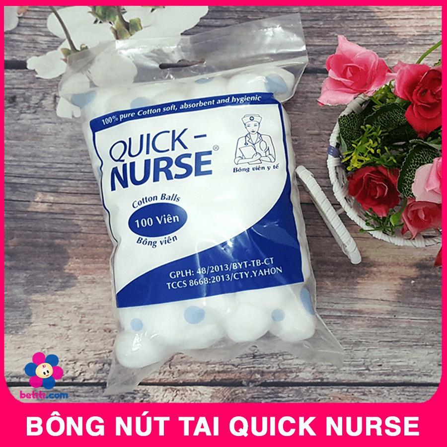 Bông Nút Tai (Bịch 100 Viên) Tiện Lợi Quick Nurse