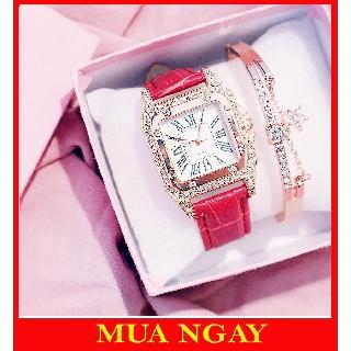 Đồng hồ nam nữ Quartz dây da thời trang đẹp rẻ DH46 thumbnail