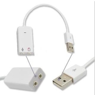 [Mã ELORDER5 giảm 10K đơn 20K] USB Ra SOUND Sang Loa Và Míc Cho Androi Tv, Máy Tính - USB Sound 7.1