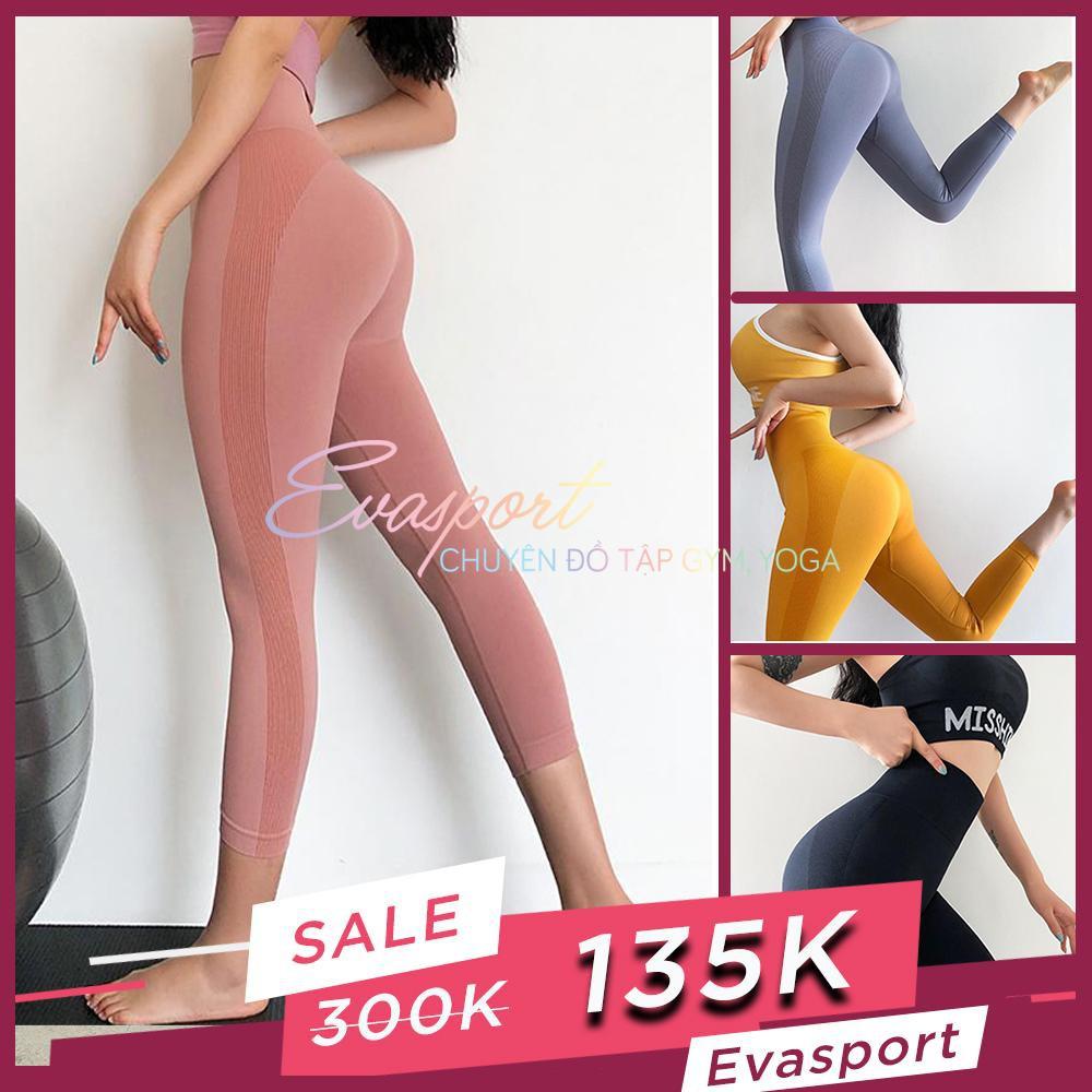 Quần lửng cap cao tập gym, yoga, aerobic nữ MISSHINE dệt kim co giãn tốt nâng mông