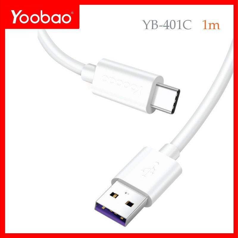 [Freeship toàn quốc từ 50k] Cáp sạc và truyền dữ liệu USB Type C dài 1m vỏ nhựa TPE YOOBAO YB - 401C Yo_0094