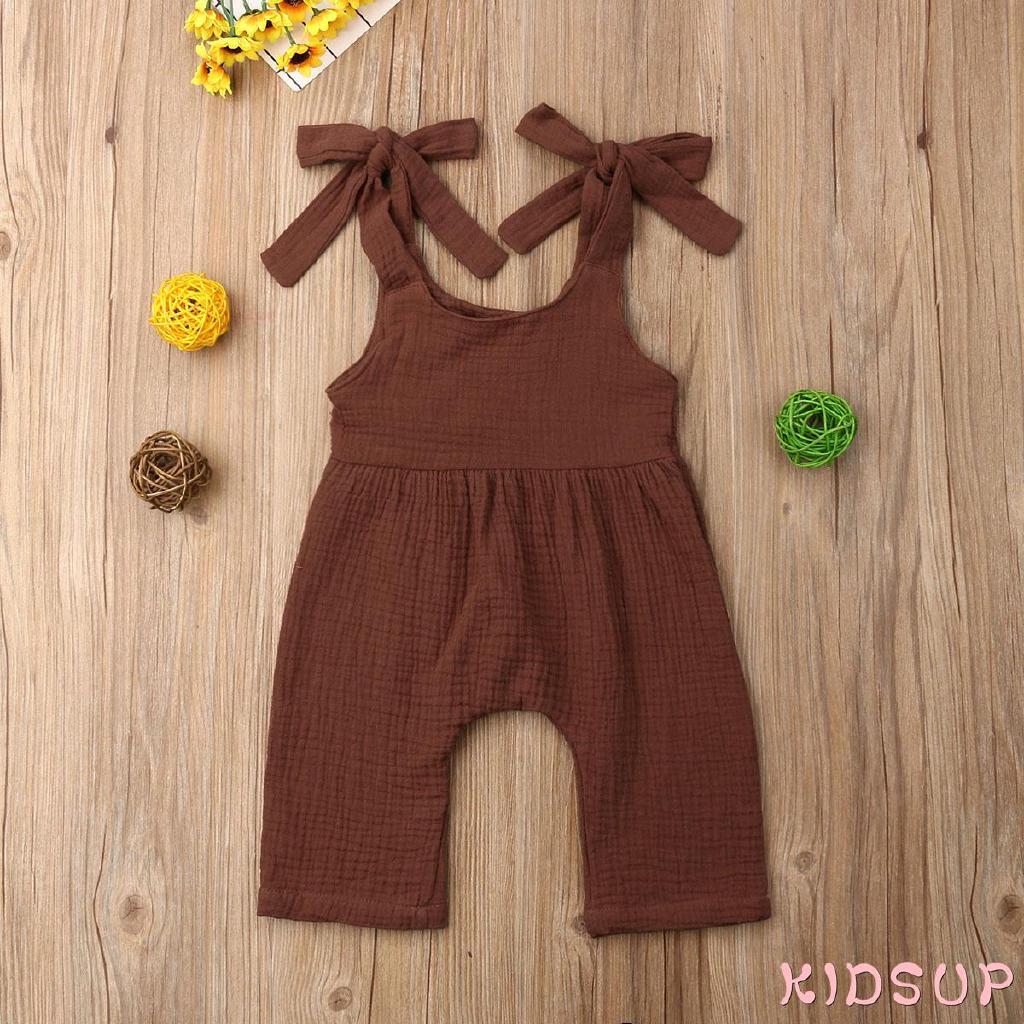 Bộ áo liền quần cotton dễ thương cho trẻ sơ sinh