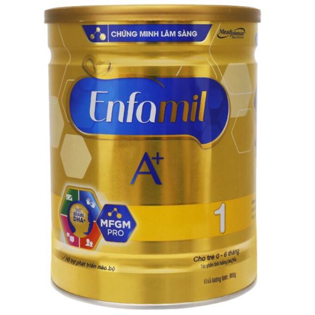 (nhập mã TKBSUN2 giảm 5%) SỮA ENFAMIL A+ 1 360 BRAIN DHA+ VÀ MFGM PRO 900G