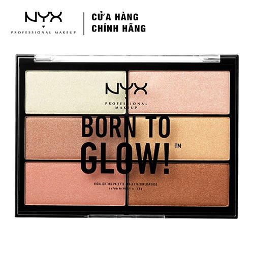 Bảng phấn bắt sáng NYX Professional Makeup Born To Glow Highlighter Palette BTGHP01 28.8g - 3460936 , 1274823026 , 322_1274823026 , 590000 , Bang-phan-bat-sang-NYX-Professional-Makeup-Born-To-Glow-Highlighter-Palette-BTGHP01-28.8g-322_1274823026 , shopee.vn , Bảng phấn bắt sáng NYX Professional Makeup Born To Glow Highlighter Palette BTGHP0