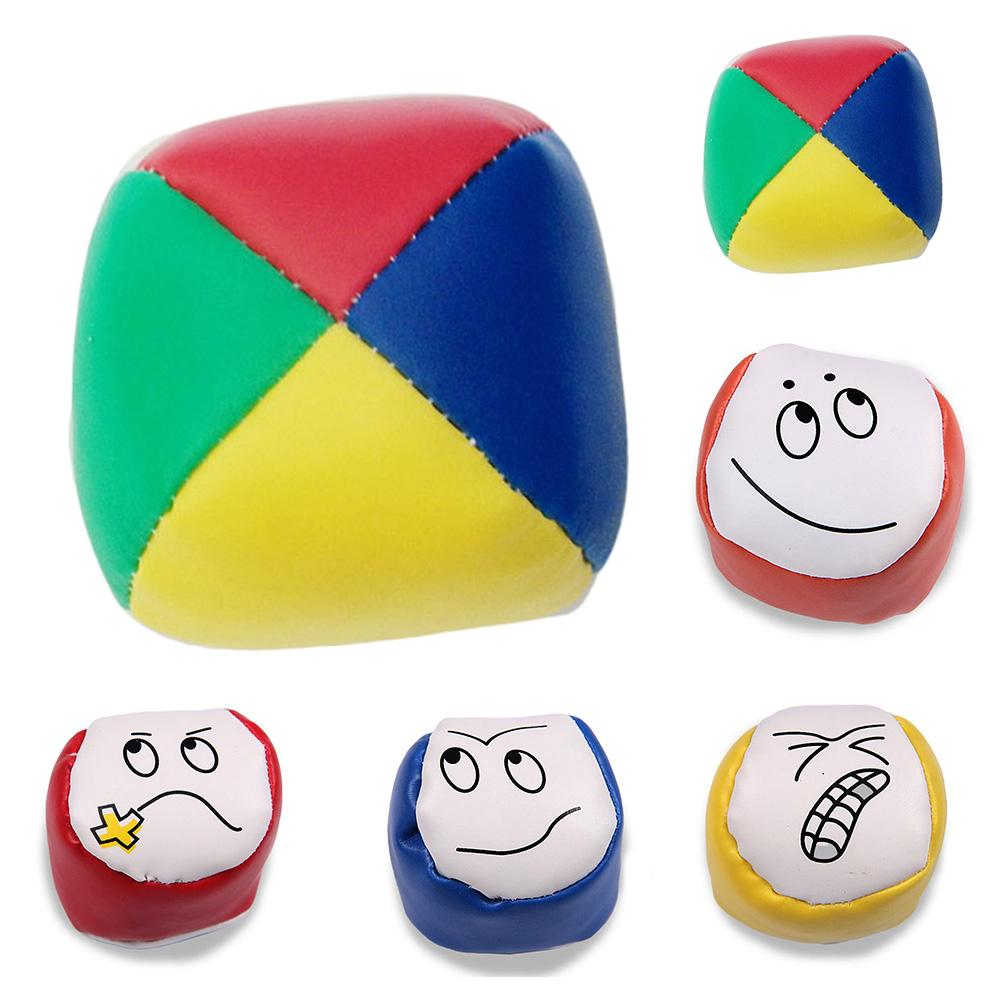 1x Juggling Balls Classic Bean Bag Juggle Magic Circus Beginner Kids Toy Gift
