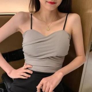 Áo croptop 2 dây chéo 💥Hàng cao cấp💥 có miếng mút nâng ngực
