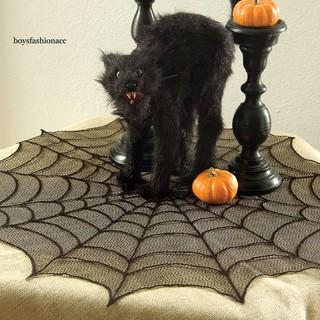 Khăn trải bàn hình mạng nhện trang trí tiệc halloween - hình 3