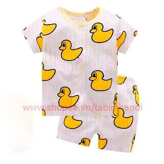 Bộ quần áo cộc khuy vai QATE240 cho bé trai và bé gái